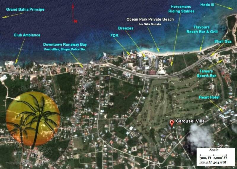 Click for Satellite images of Runaway Bay Jamaica & suronding areas  Googel Maps